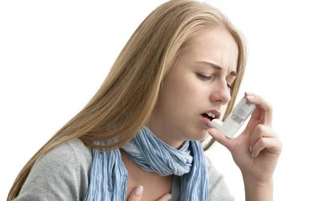 Спровоцировать аллергическую реакцию может бронхиальная астма