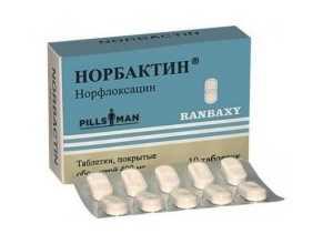 Антибактериальное средство Норбактин при цистите