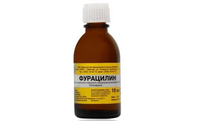 Антисептический раствор Фурацилин применяется для промывания органов выделительной системы