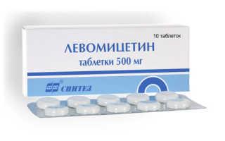 Таблетки Левомицетин при цистите