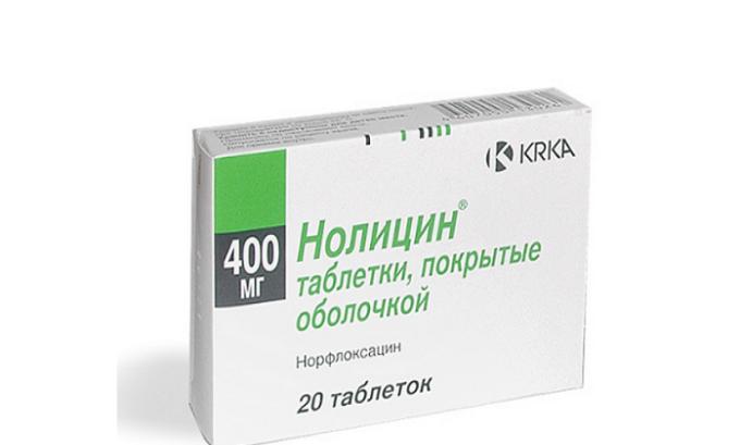 При остром цистите часто используют препарат Нолицин