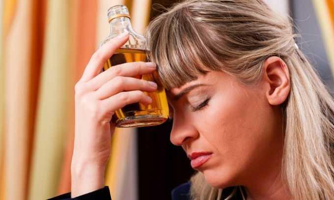 Проблемы могут возникнуть из-за употребления алкогольных напитков