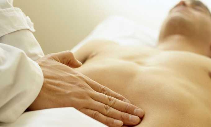 Пальпация живота характеризует напряжение мышц и увеличение почки