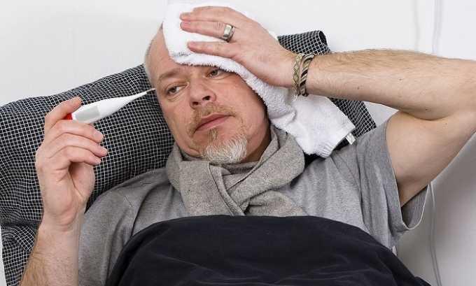 У больного может повышаться температура тела