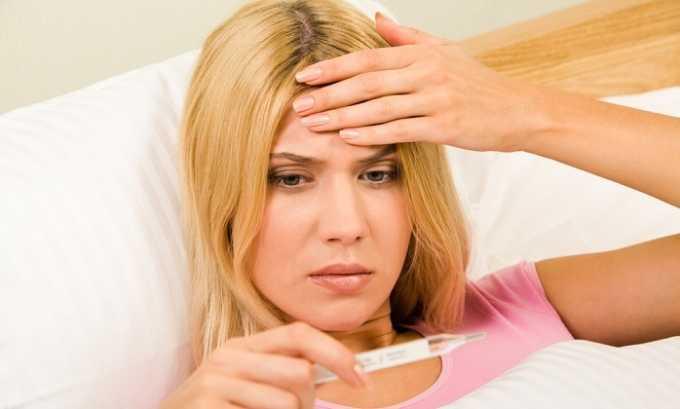 При запущенном заболевании у человека может подняться температура