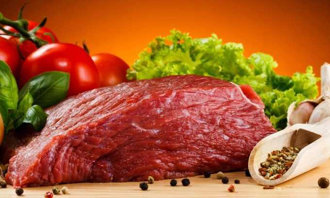 Ограничение белковой пищи (в первую очередь мяса)