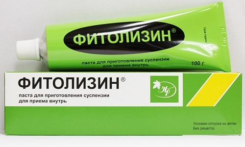 При цистите применяют также Фитолизин - пасту с полностью натуральным составом