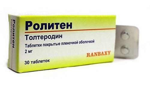 Ролитен назначается для лечения «слабого» мочевого пузыря