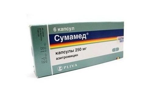 При хронических формах цистита у детей используется препарат Сумамед