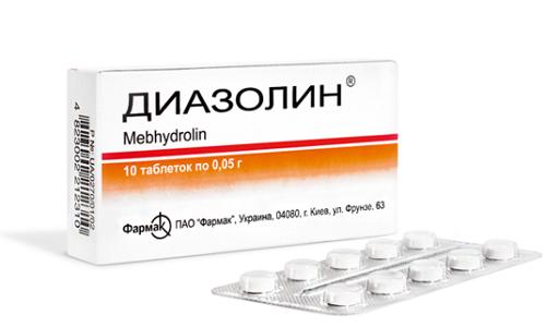 В случае появления зуда по причине аллергической реакции следует принимать антигистаминный препарат Диазолин